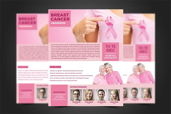 Latest Breast Cancer Flyer Template