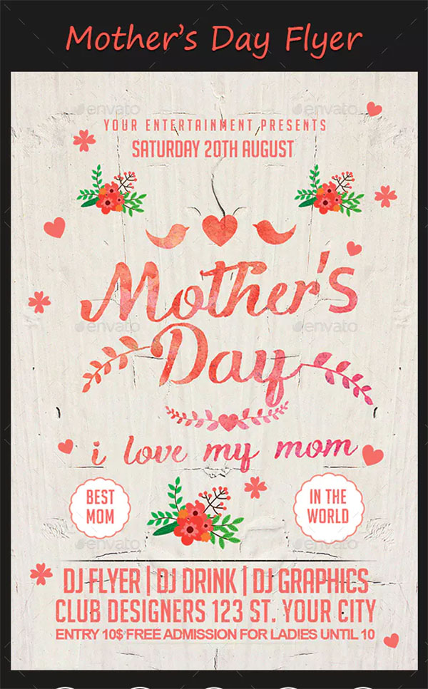Latest Mother's Day Flyer Template