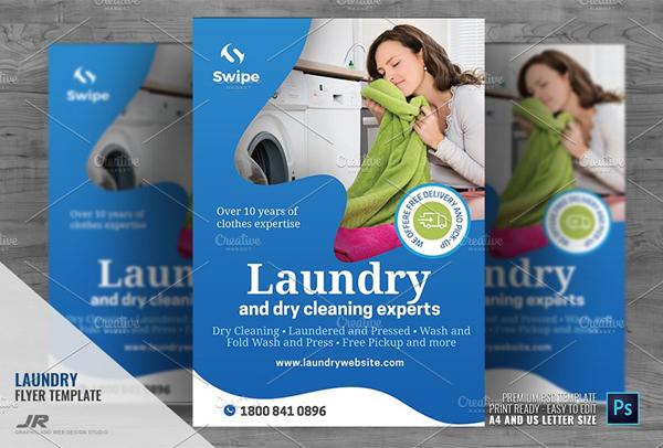 Laundry Flyer Templates Psd Ai Vector Free Premium Downloads