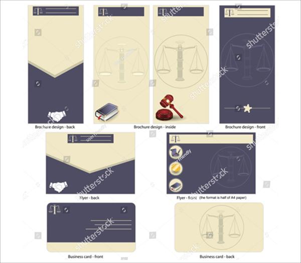 Lawyer Design Brochure Templates
