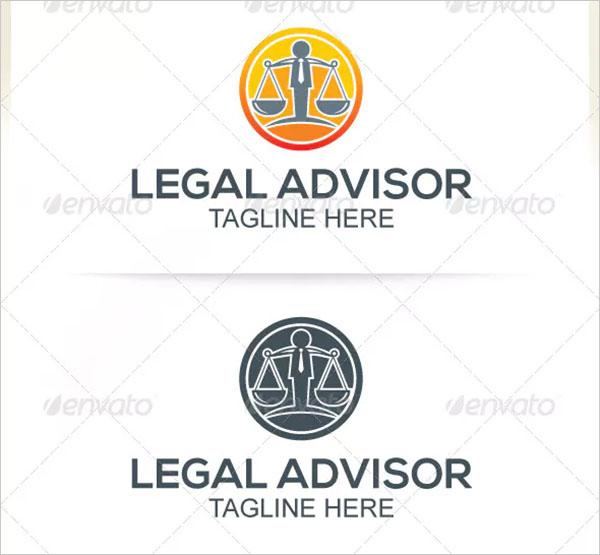 Legal Advisor Design Logo