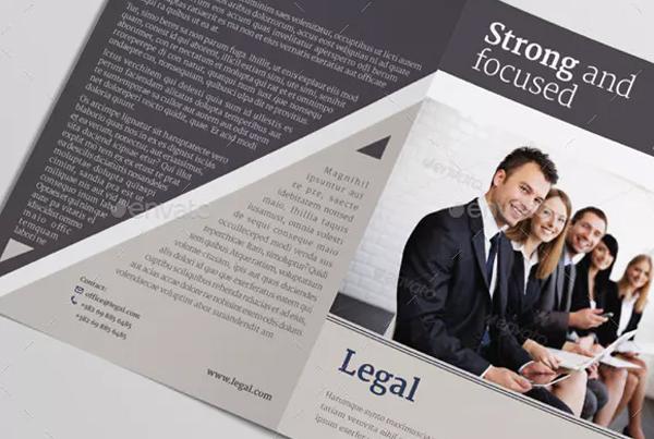 Legal Bifold Brochure Template