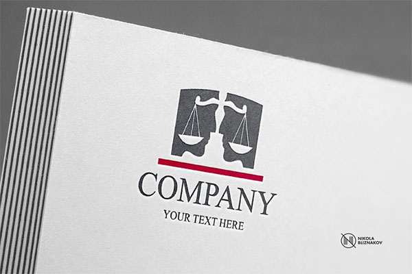 Legal Company Lawyer Logo
