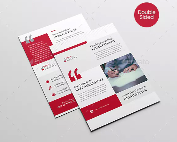 Legal Corporate Law Firm Business Flyer Design