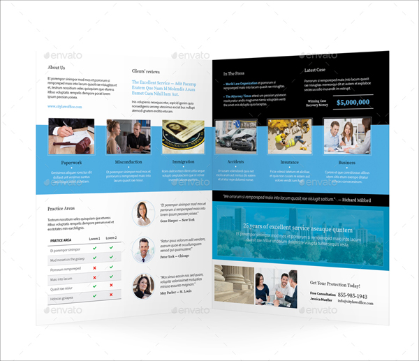 Legality Halffold Brochure Template