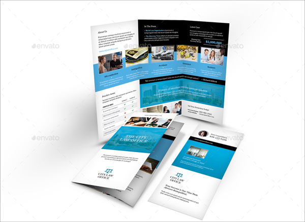 Legality Trifold Brochure Design Template