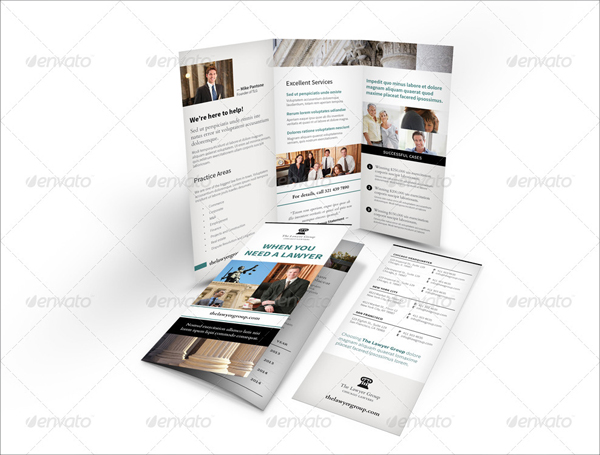 Legality Trifold Brochure Template