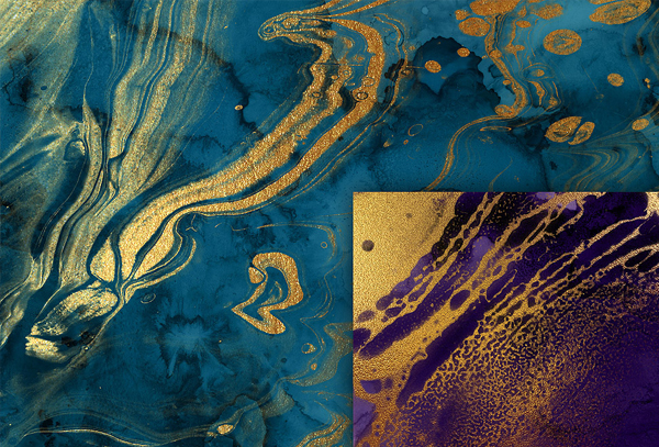 Liquid Fire and Sea Textures