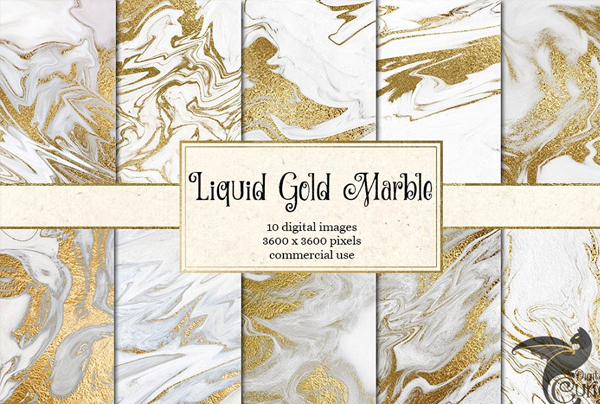 Liquid Gold Marble Textures