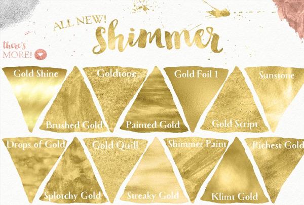 Liquid Gold Texture for Illustrator