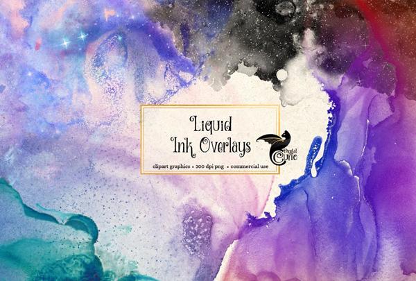 Liquid Ink Overlays and Texture