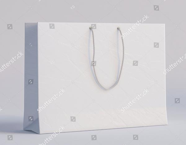 Luxury White Paper Bag Mockup