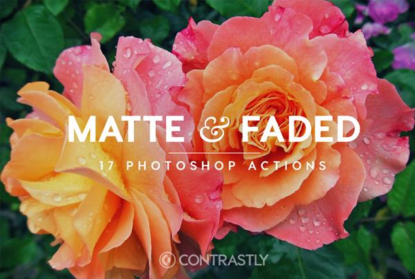 Matte & Faded Tones Photoshop Actions