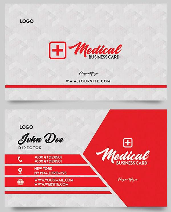Medical Free Business Card PSD Templates