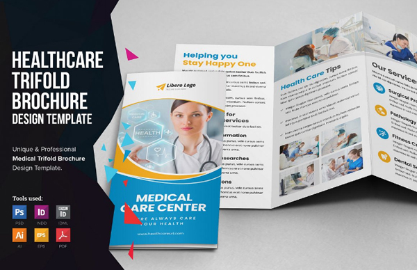 Medical Healthcare Trifold Brochure Design