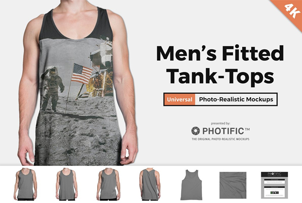 Men's Tank Top Apparel Mockups
