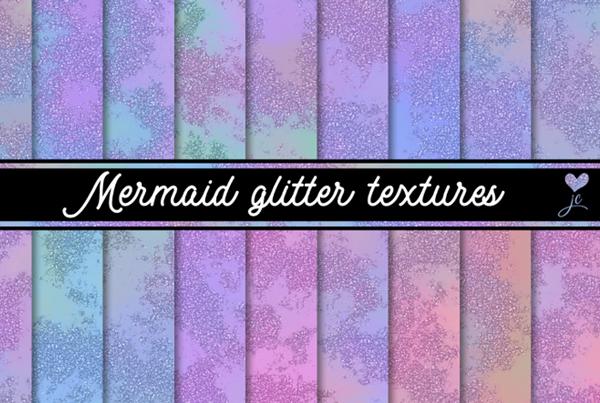 Mermaid Glitter Textures