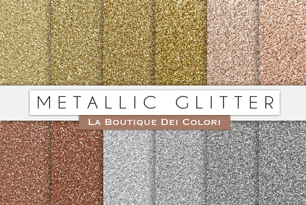 Metallic Glitter Digital Paper Texture