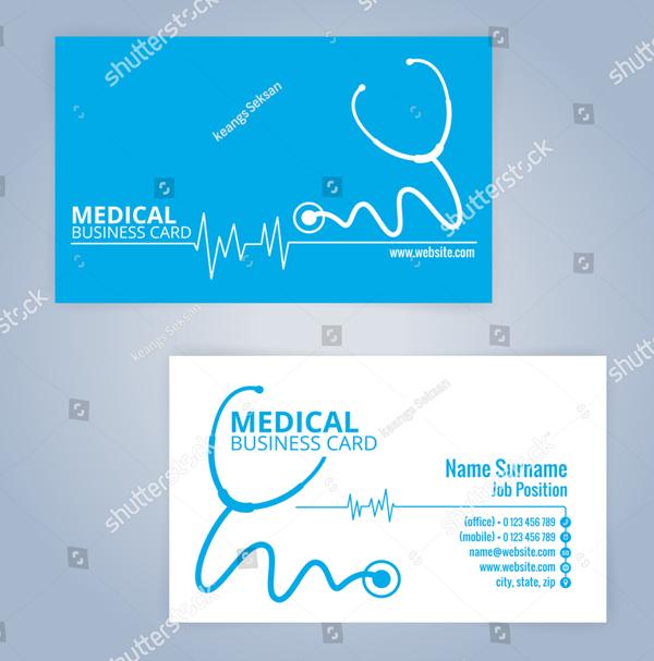 Modern Health Card Business Card