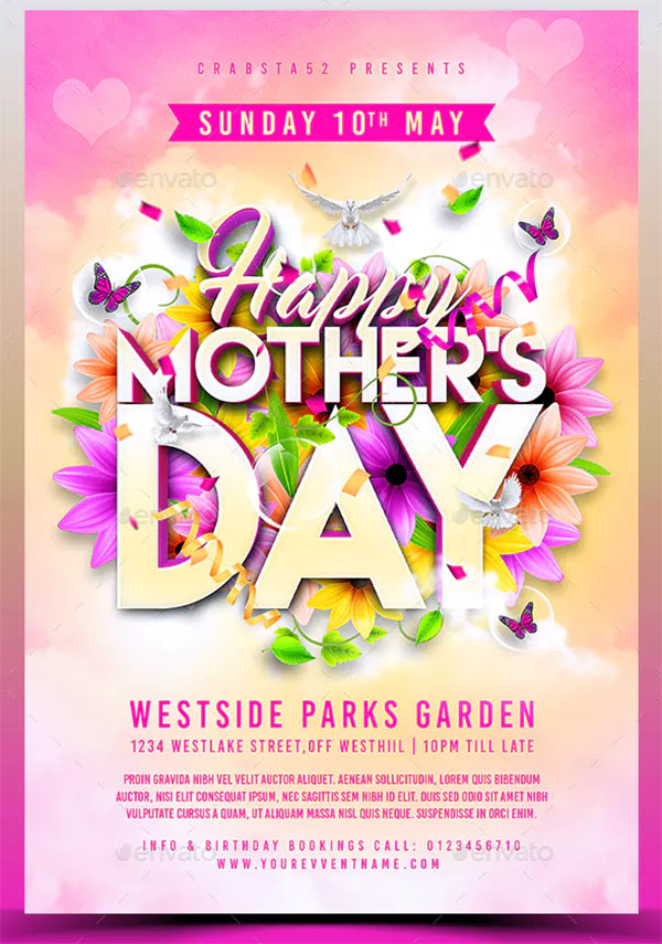 Modern Mother's Day Flyer Template
