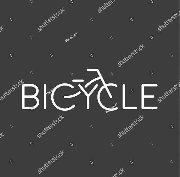 Modern Vector Bicycle Logo