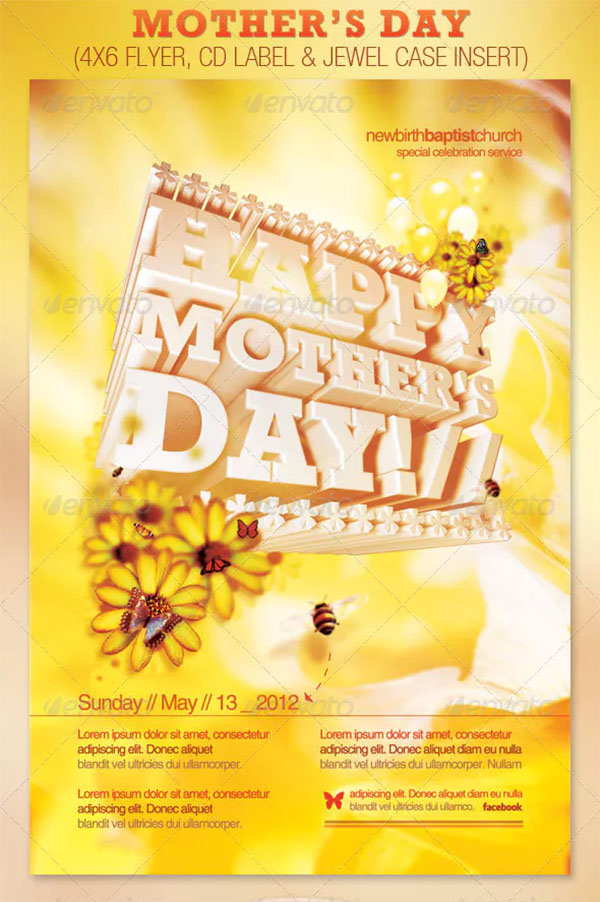 Mother's Day Church Flyer