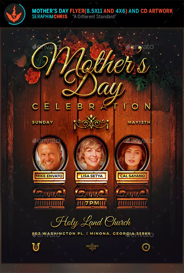Mother's Day Celebration Flyer Design