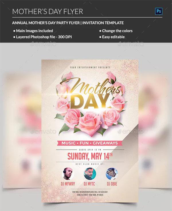 Mothers Day Celebration PSD Flyer