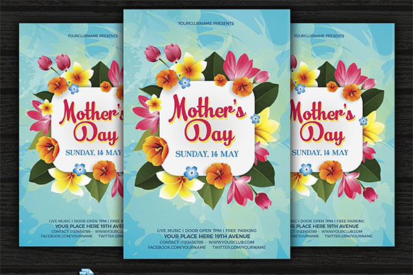 Mother's Day Flyer Event Design