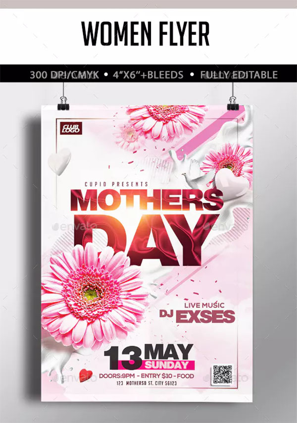 Mother's Day Flyer PSD Design