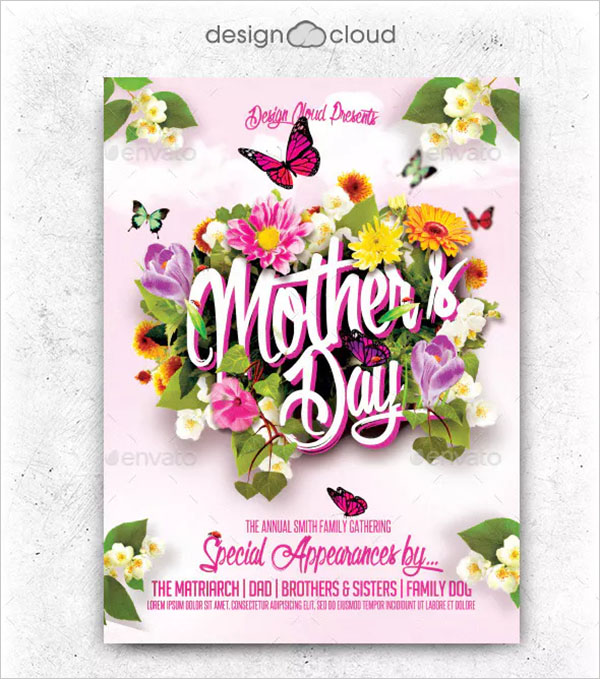 Mother's Day Flyer Template Design