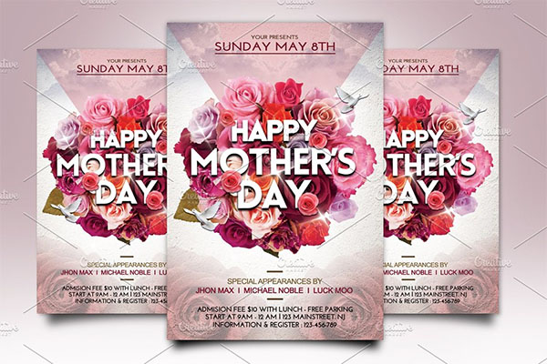 Mother's Day Flyer Template PSD Design