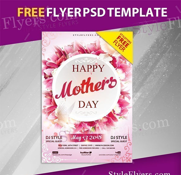 Mothers Day Free PSD Flyer