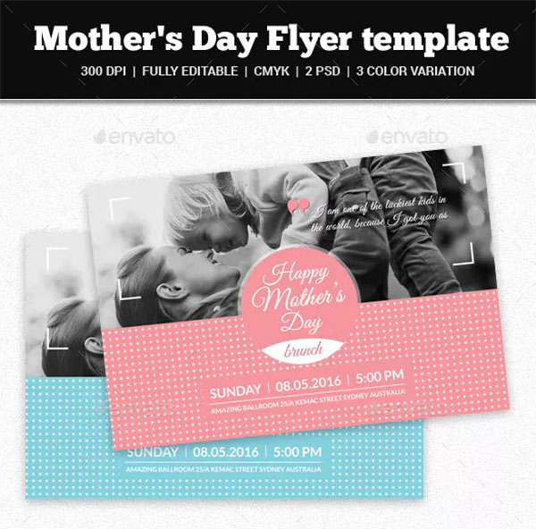 Mother's Day Photoshop Flyer