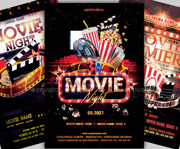 Movie Night Flyers Bundle