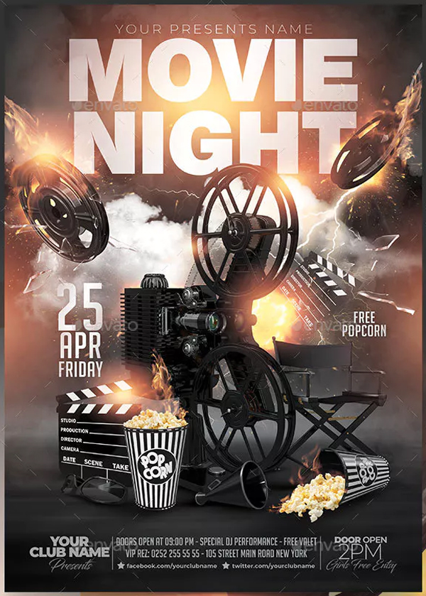 Movie Night Out Flyer Template
