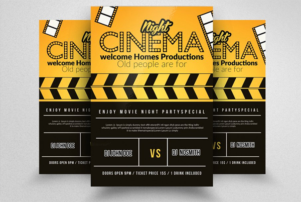 Movie Theater Flyer Templates