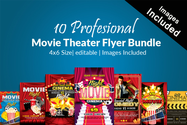 Movie Theater Flyers Bundle
