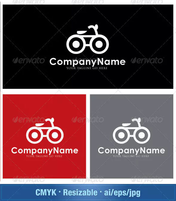 My Lovely Bicycle Logo Template