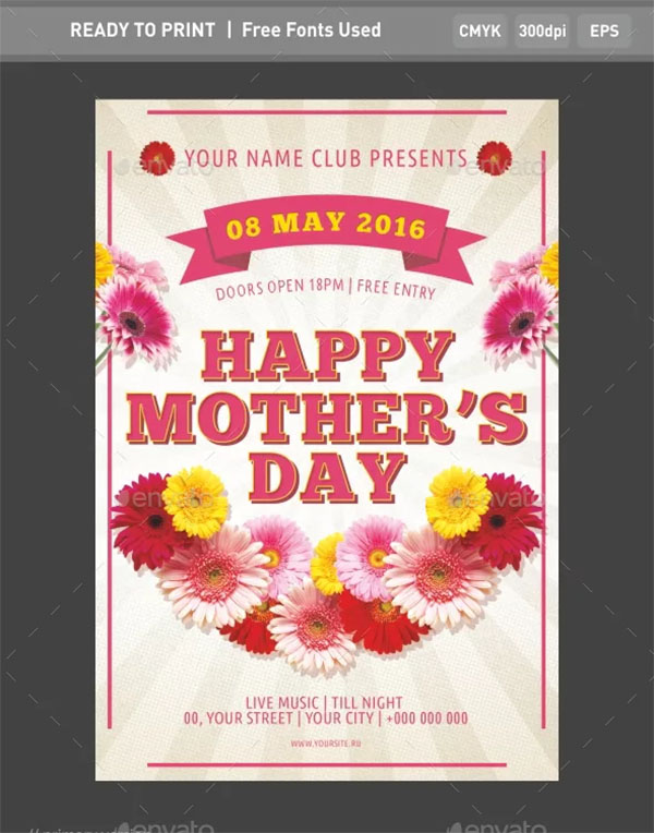 New Mother's Day Flyer Template