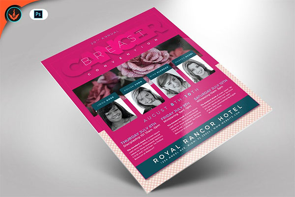 PSD Breast Cancer Flyer Template