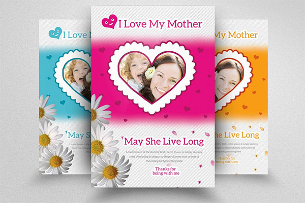 PSD Mother's Day Flyer Template