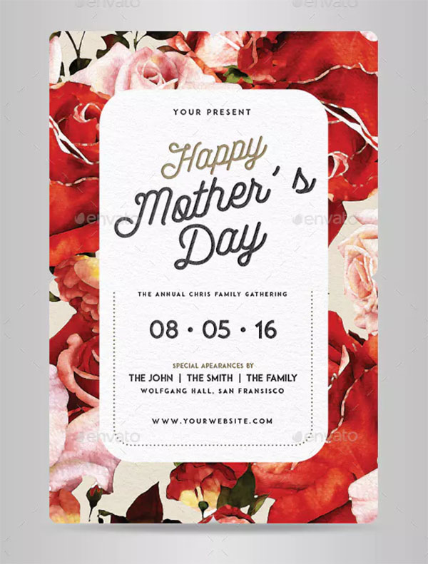 PSD Mother's Day Flyer
