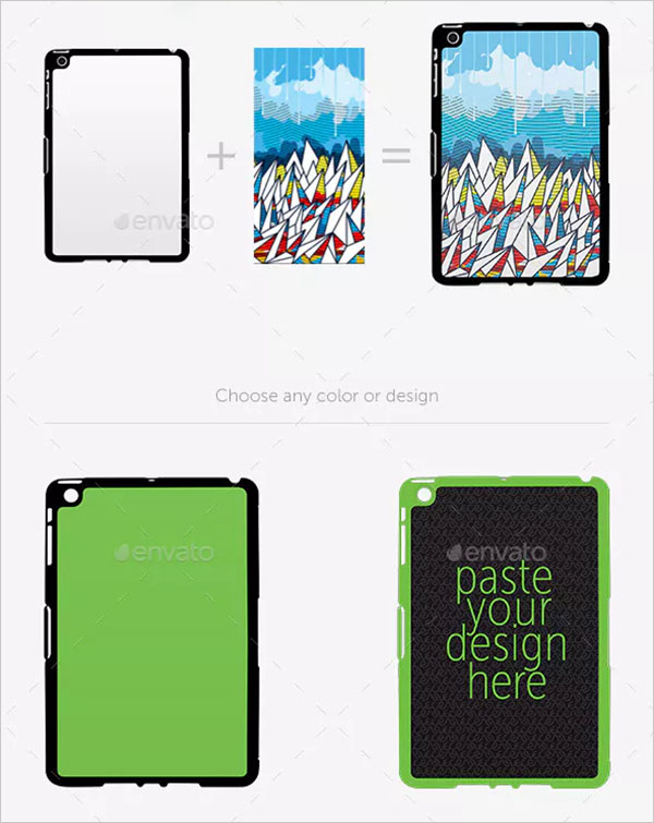 Pad Mini Sticker Case Design Mockup