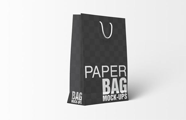 Paper Gift Shopping Bag Mockup PSD Template