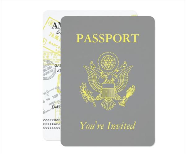 Passport Baby Shower Invitation