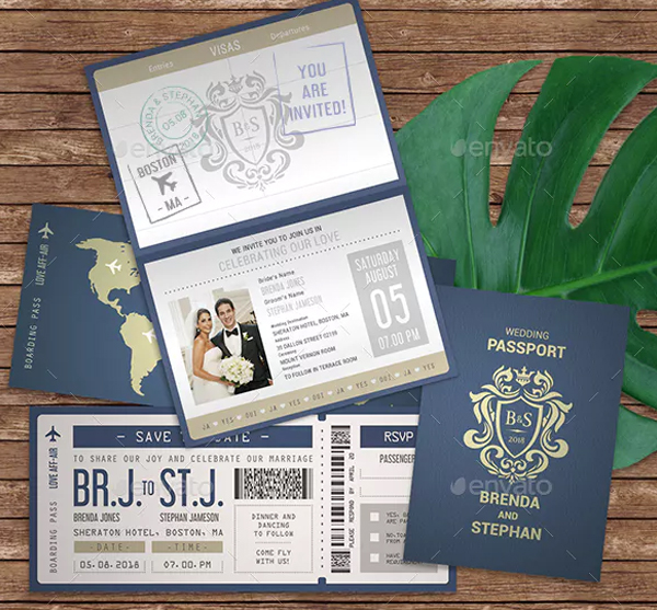 Passport Invitation Templates Free Premium Psd Ai Vector