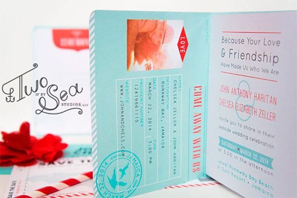 Passport Wedding Invitation Templates