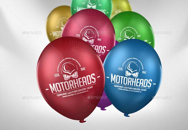 Photorealistic Balloon Logo Mock-up