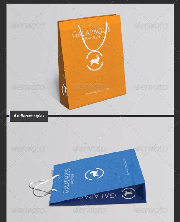 Photorealistic Paper Shopping Bag Mockups